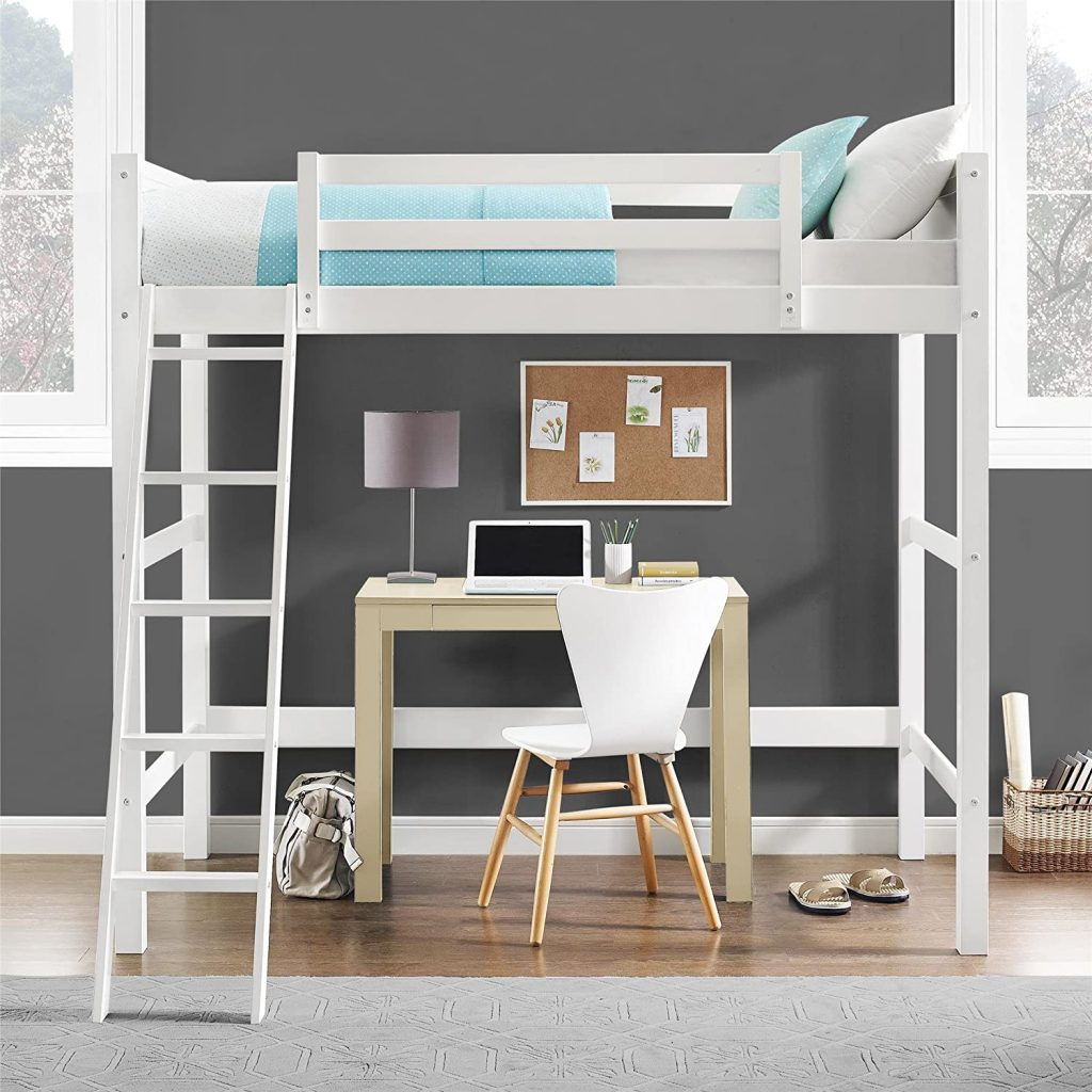Space Saving twin Loft Bed With Desk